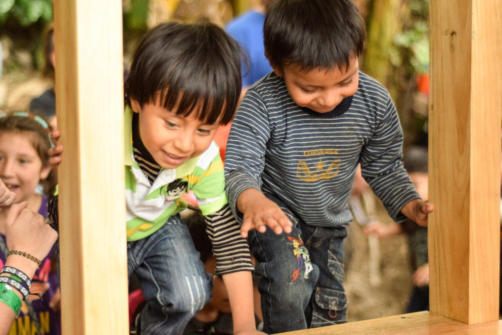 Preschoolers Enjoying the New Playground