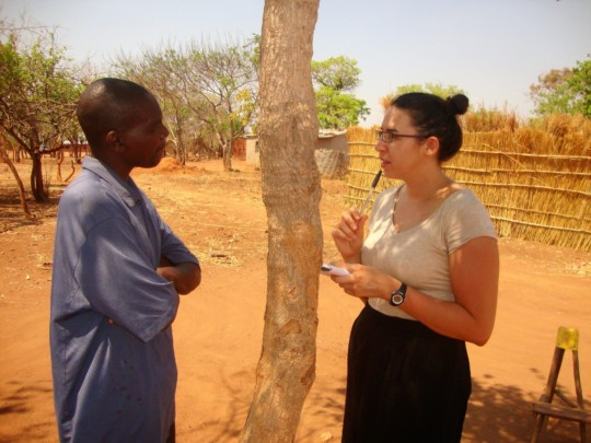 Elyse interviewed farmers to evaluate radio use