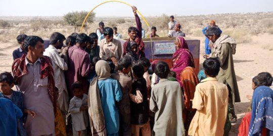 People of Thar are gathered to collect water
