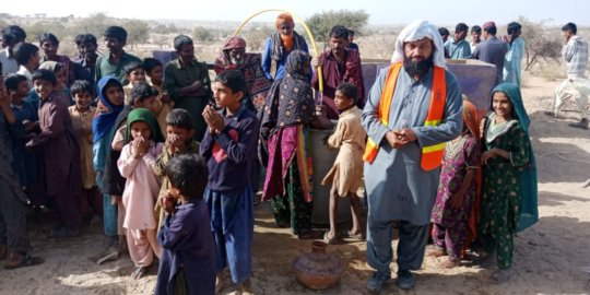 People are happy to find water well at doorsteps
