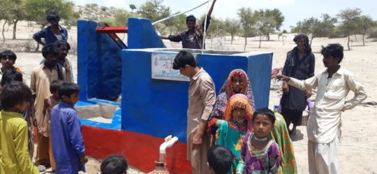Happy to find water well at their door step.