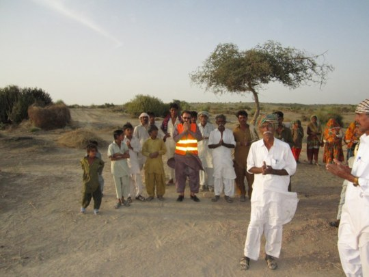 The people of Thar are praying before digging.