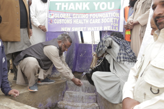 Sweet drinking water from a well in Thar