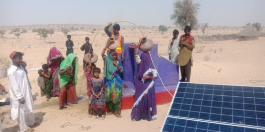 Solar operated water well