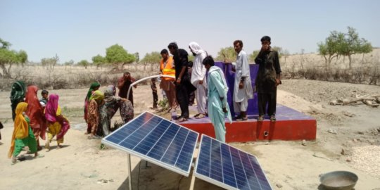 The Water Wells operated with Solar Panels