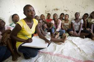 Rehema Saidi, an ELA club mentor in Tanzania.