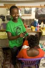 Jackline Chikusa, ELA member, salon owner.