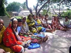 Women at a microfinance meeting in Tanzania