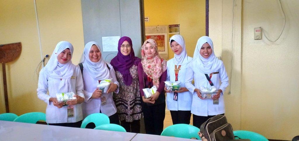 College Nursing Students with professor