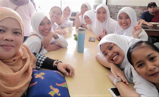 Nursing students gathered at school