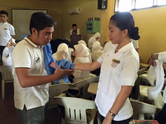 Student Nurse in class at Sulu State College