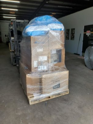 Pallet of donated surgical and medical supplies