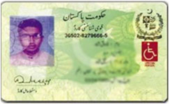 Example of the SCNIC (Identity Card)
