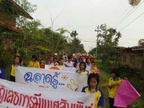 A parade promoting sex education awareness