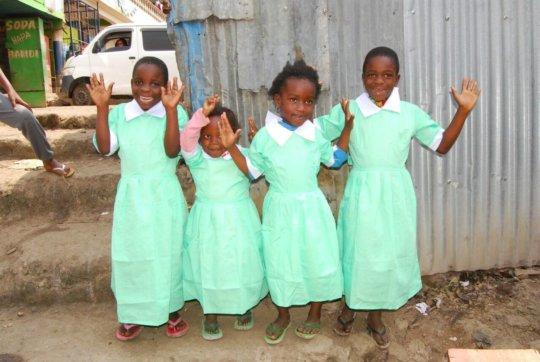 Happy Children with Uniforms