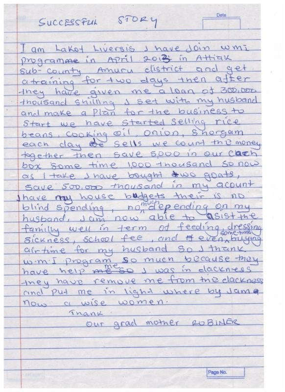 Letter from a Borrower