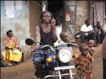 Prisca Mafabi and Her Motorbike