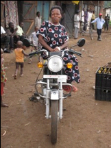 Olive Nangoli and Her Motorbike