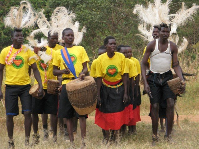 Former child soldiers perform for WMI trainers