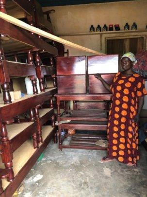 Rosi in her Furniture Shop