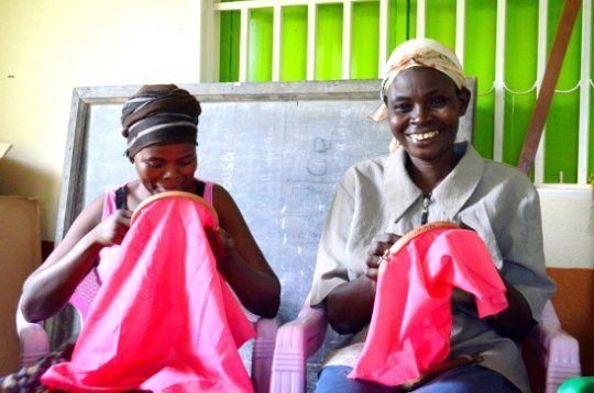 WMI Borrowers Learn to Embroider