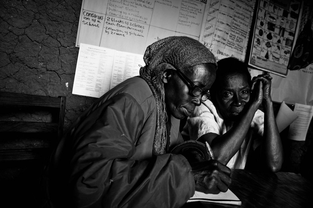 A WMI borrower receives instruction about good business practices. Because many borrowers have no prior experience managing money, they are taught business skills such as record keeping before they receive their loans. Every woman prepares a business plan before starting her business.
