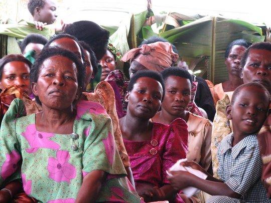 Bulambuli women meet to hear about WMI's loans