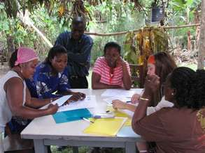 WMI staff meeting with borrowers