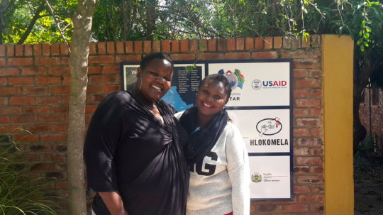 Constance and Whitney, our superstar volunteers!