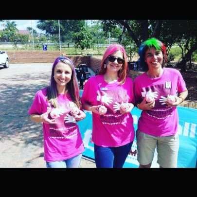 Hlokomela staff at CANSA Shavathon