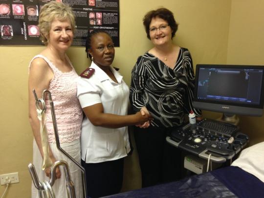 Hlokomela's new ultrasound machine!