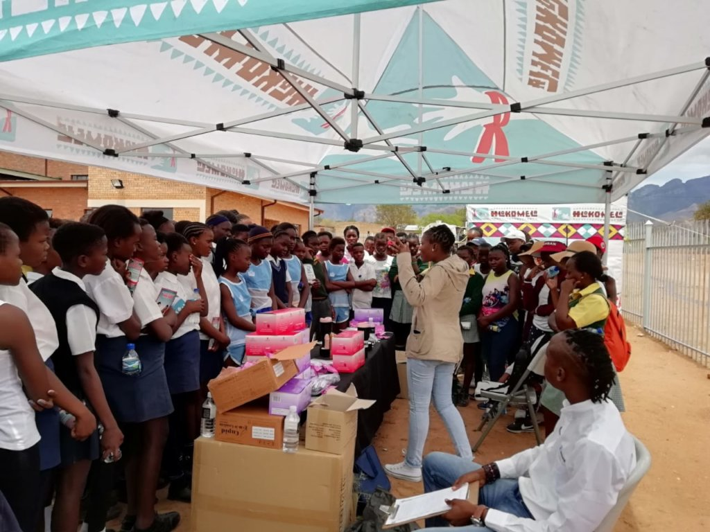 Kgopotso teaches young girls about safe sex