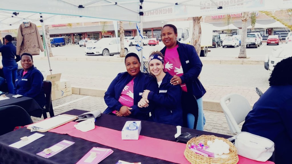 Outreach to teach breast self-examination