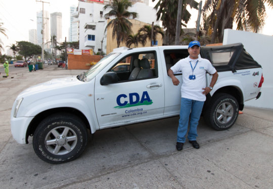 Jhon, our team driver, with one of our CDA trucks