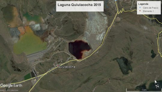 Quiulacocha lake - Excelsior waste mining disposal