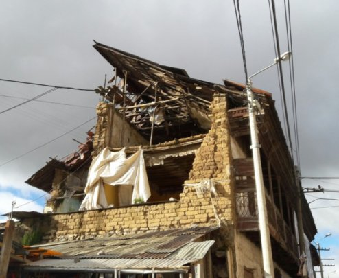 Local houses destroyed by mining detonations