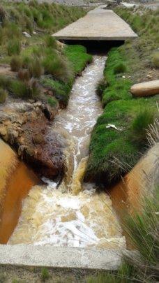 Pollution into the Rio San Juan
