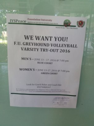 Volley Varsity Tryout Schedule