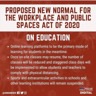 THE NEW NORMAL FOR EDUCATION IN THE PHIL.