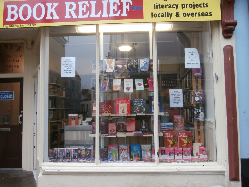 Our small charity bookshop in Bideford