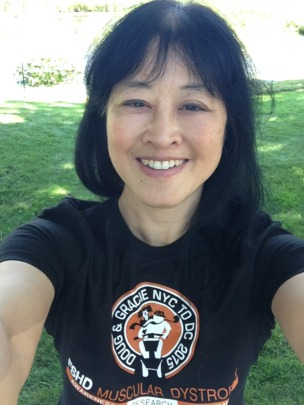 This is me proudly wearing my Doug & Gracie T!