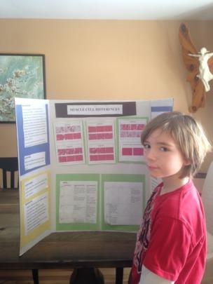 Maureen's son Liam presenting on FSHD science