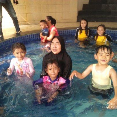 Swimming will always be children favorite activity
