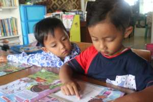 Reading becomes a habit for the children