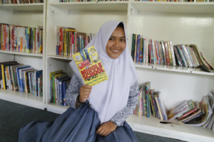 Dita, our library member since elementary school
