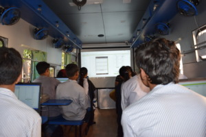 Students learning Mobile App Development
