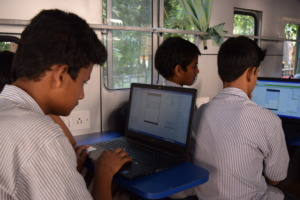 Students learning Web Designing
