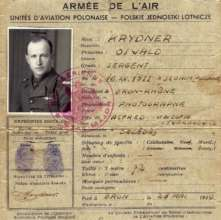 Sgt Oswald Krydner, Polish Air Force ID papers