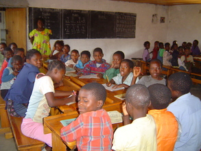 students in the new classroom