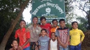 Children outside the Jaigeer Primary School